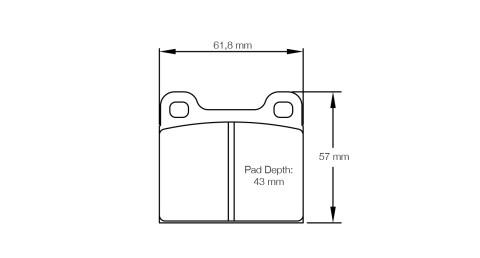 PAGID RACING Bremsbeläge Satz U4304-RS14