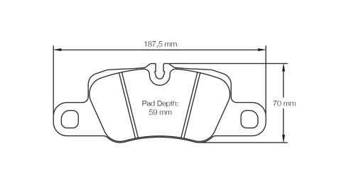 PAGID RACING Bremsbeläge Satz U4909-RS29