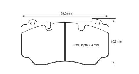 PAGID RACING Bremsbeläge Satz U4941-RSC1
