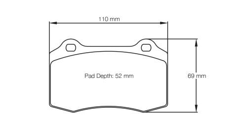 PAGID RACING Bremsbeläge Satz U1408-RS14