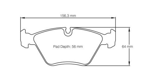 PAGID RACING Bremsbeläge Satz U1295-RSL1