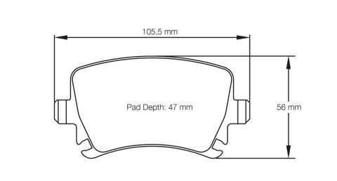 PAGID RACING Bremsbeläge Satz U8046-RS19
