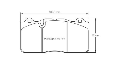 PAGID RACING Bremsbeläge Satz U8091-RS19