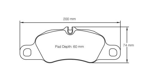 PAGID RACING Bremsbeläge Satz U8074-RS14