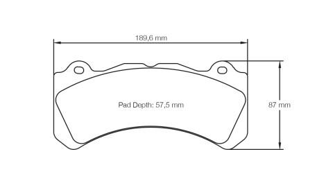 PAGID RACING Bremsbeläge Satz U8062-RS29