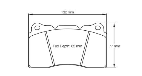 PAGID RACING Bremsbeläge Satz U2487-RS14