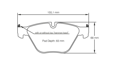 PAGID RACING Bremsbeläge Satz U8053-RSC1