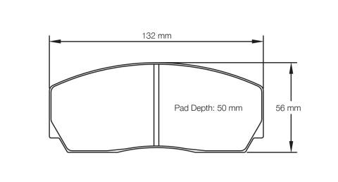 PAGID RACING Bremsbeläge Satz U1361-RS14