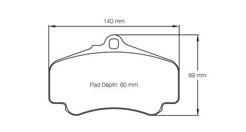 PAGID RACING Bremsbeläge Satz U2474-RS14