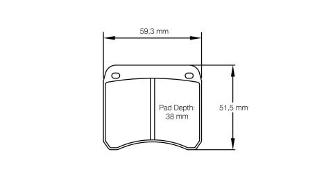 PAGID RACING Bremsbeläge Satz U1362-RS14