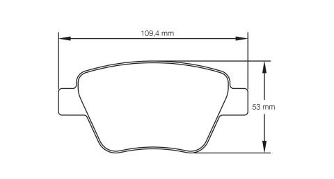 PAGID RACING Bremsbeläge Satz U4936-RS44