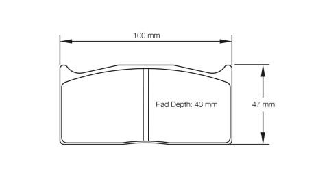 PAGID RACING Bremsbeläge Satz U1283-RS14