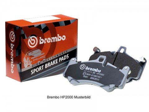 Brembo Sport Bremsbeläge Porsche Boxster 986 S 3.2