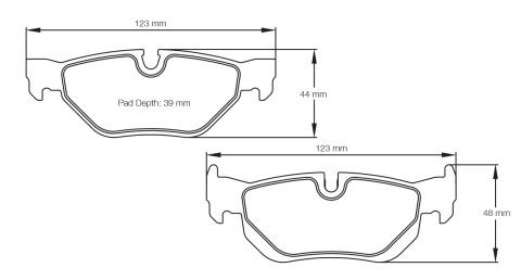 PAGID RACING Bremsbeläge Satz U8035-RSL1