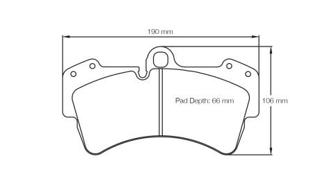 PAGID RACING Bremsbeläge Satz U2845-RS29