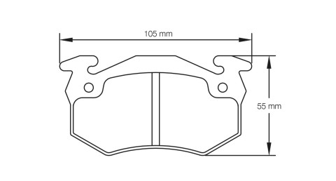 PAGID RACING Bremsbeläge Satz U1610-RS42