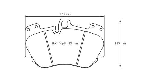 PAGID RACING Bremsbeläge Satz U4907-RSC1