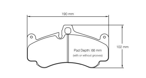 PAGID RACING Bremsbeläge Satz U2707-RS14