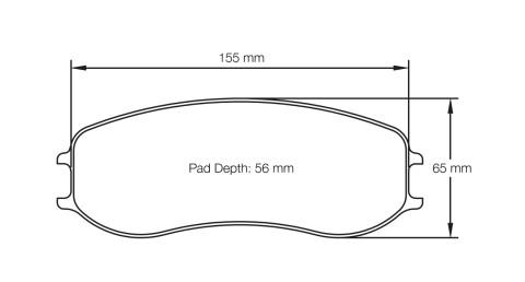 PAGID RACING Bremsbeläge Satz U4928-RS19