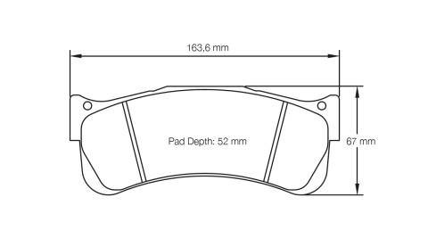 PAGID RACING Bremsbeläge Satz U2488-RS14