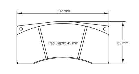 PAGID RACING Bremsbeläge Satz U1674-RS14