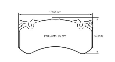 PAGID RACING Bremsbeläge Satz U4937-RSC1