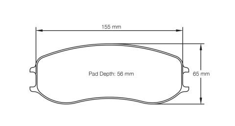 PAGID RACING Bremsbeläge Satz U4920-RS19