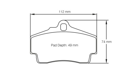 PAGID RACING Bremsbeläge Satz U2406-RS14