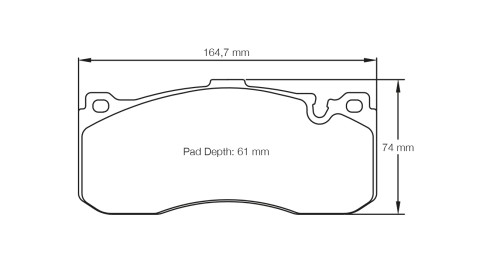 PAGID RACING Bremsbeläge Satz U8084-RS29