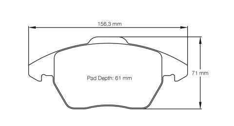 PAGID RACING Bremsbeläge Satz U8001-RS29