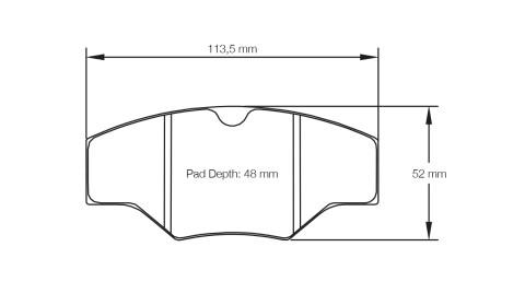 PAGID RACING Bremsbeläge Satz U1265-RS14